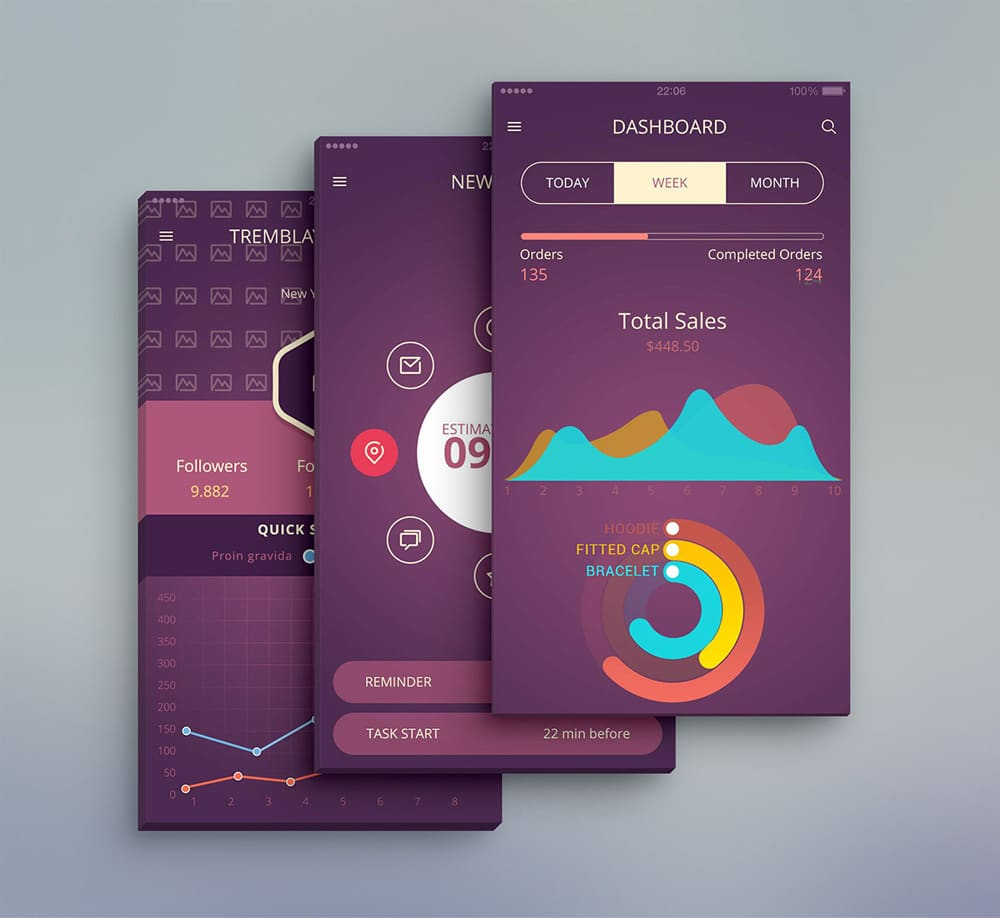 Latest Free Mobile App Ui Psd Designs 187 Css Author