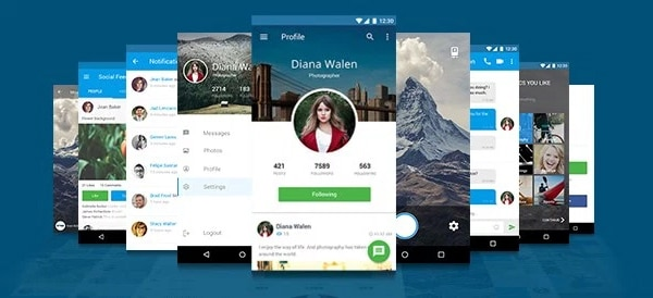 Free Mobile Application UI Template PSD