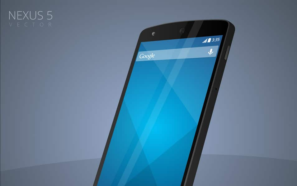 Free Nexus 5 Vector Mockup