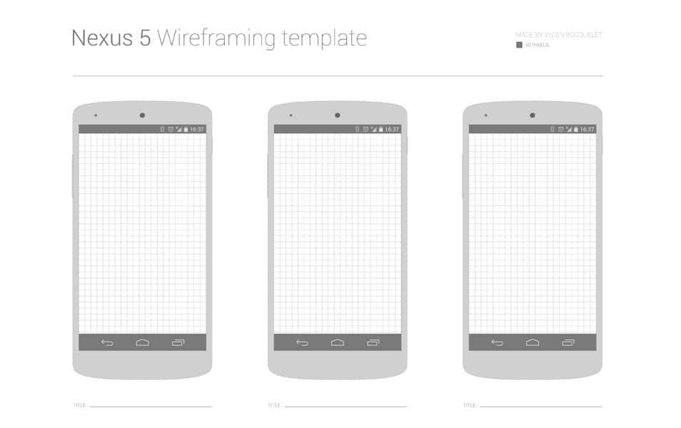 Free Nexus 5 Wireframing template