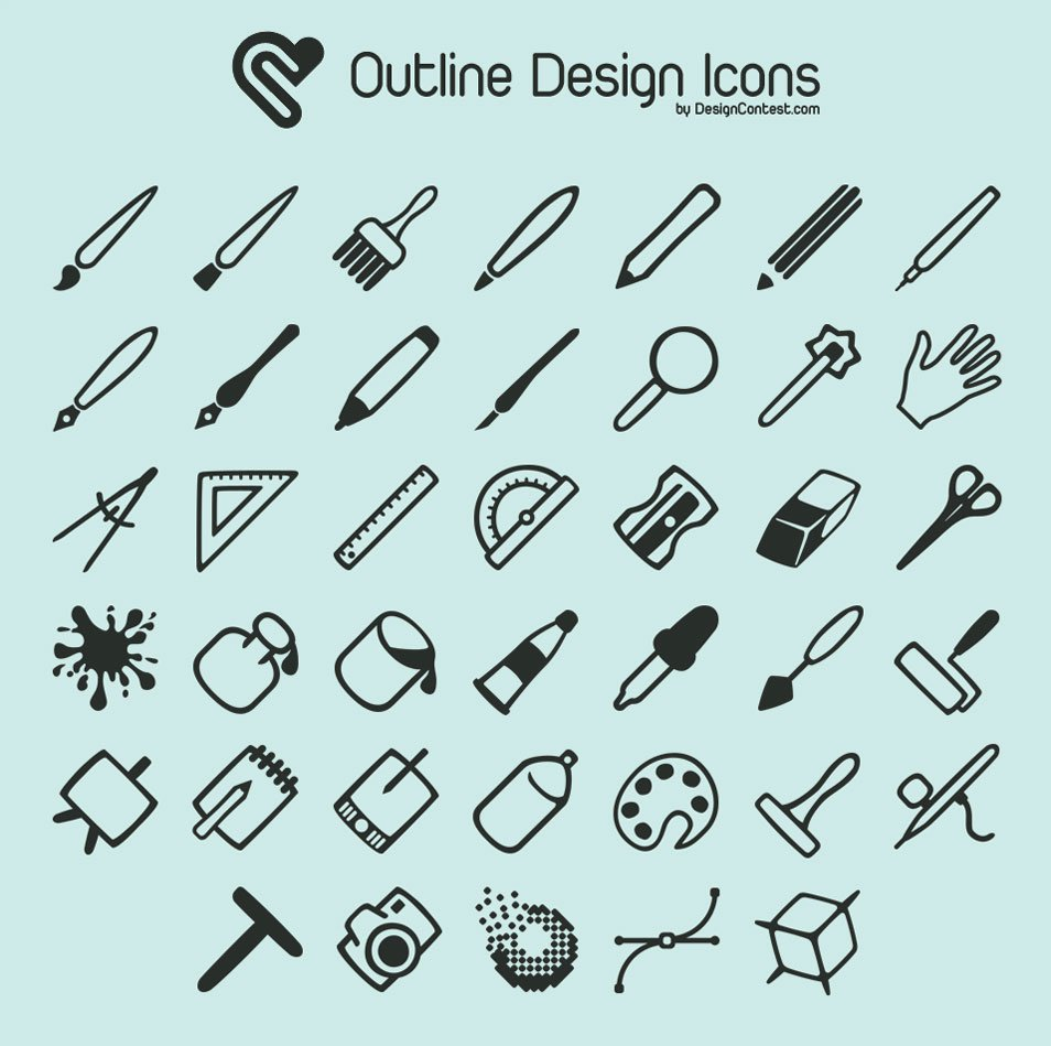 Free Outline Design Icons