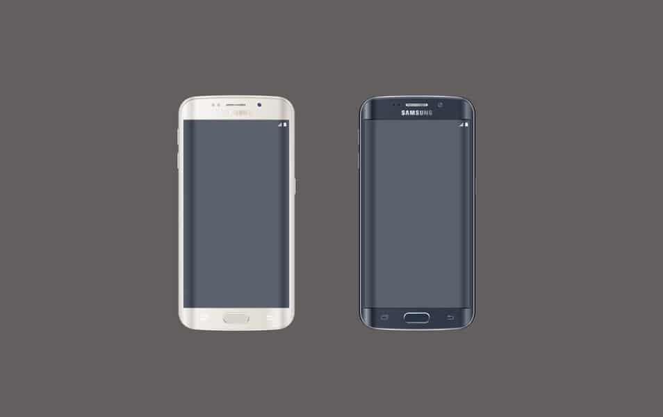 Free Samsung Galaxy S6 Edge PSD Mockup