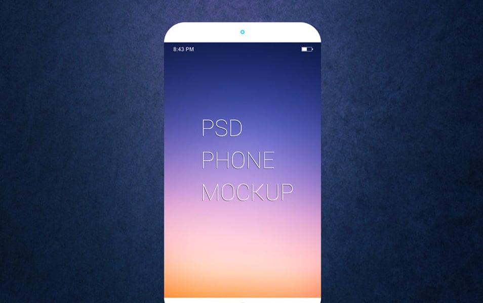 Free Smartphone PSD Mockup