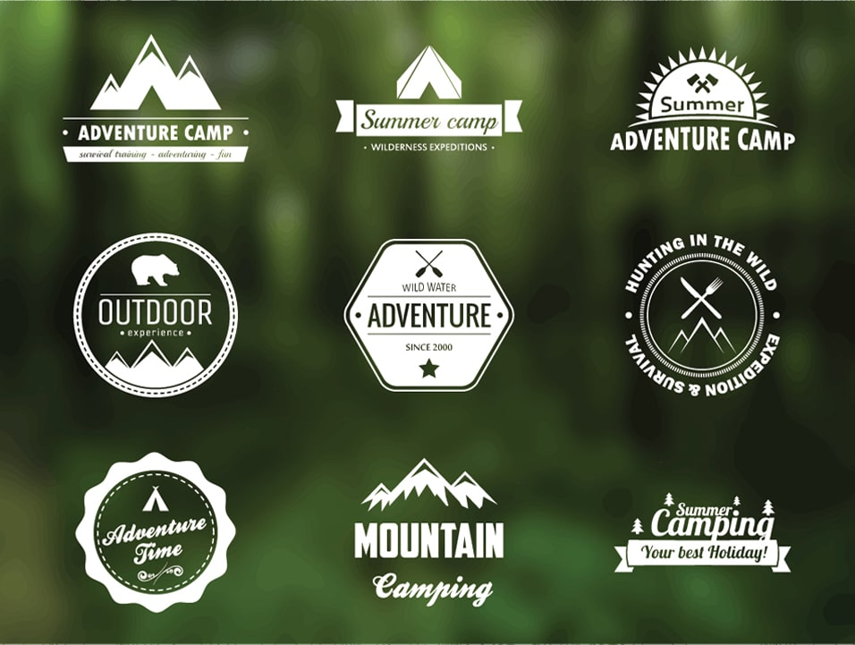 Free Vector Adventure Badges