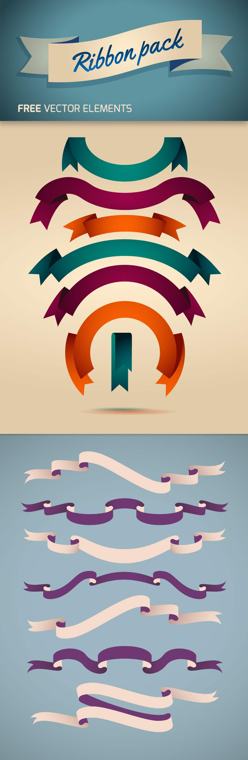 Free Vector Ribbon Pack