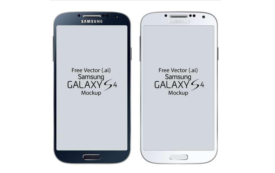 Free Vector Samsung Galaxy S4 Mockup