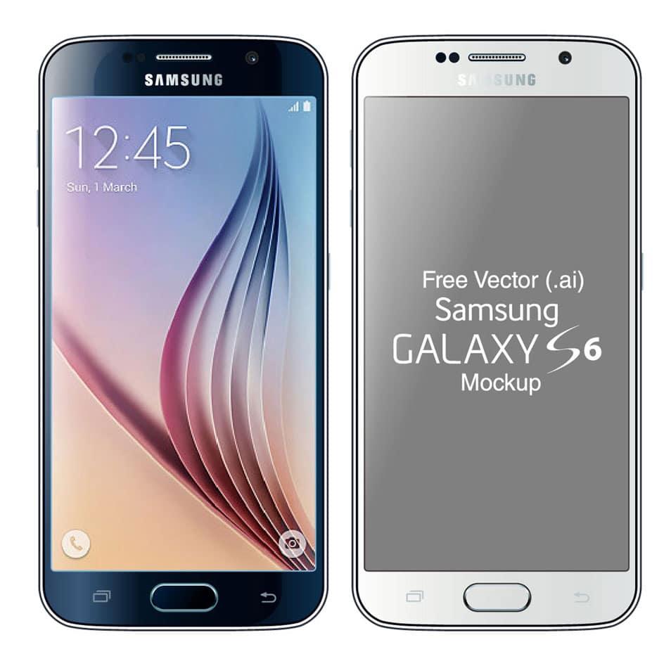 Free Vector Samsung Galaxy S6 & Edge Mockup