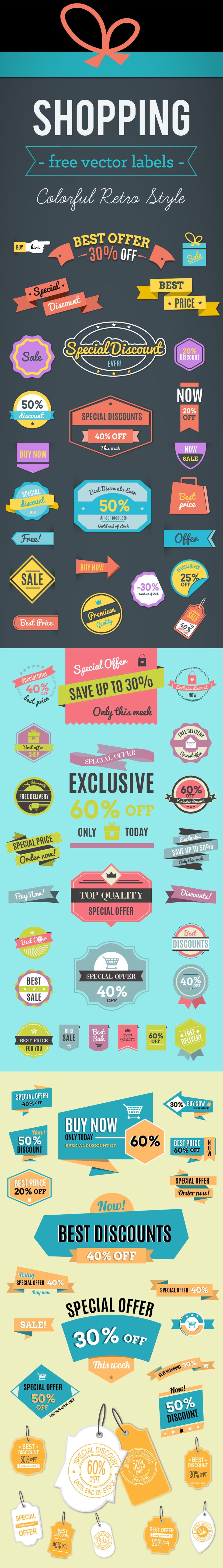 Free Vector Shopping Labels