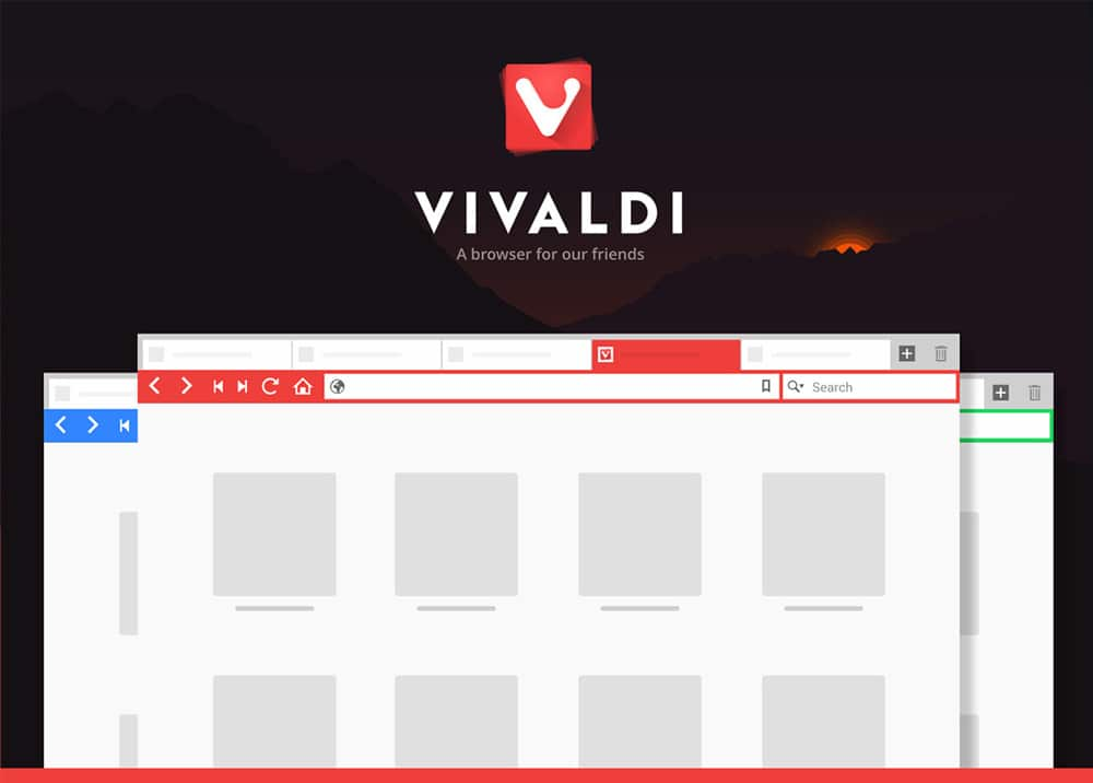 Free Vivaldi Browser Mockup PSD
