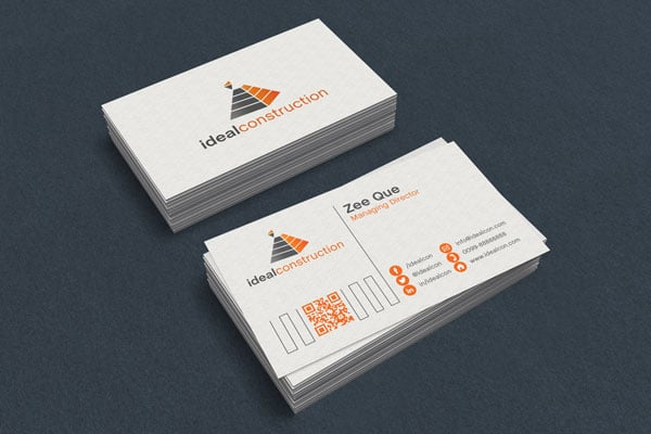 Free White Business Card Mockup PSD