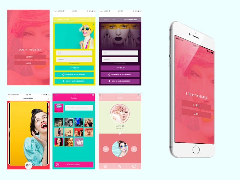 Free iPhone Model App UI PSD