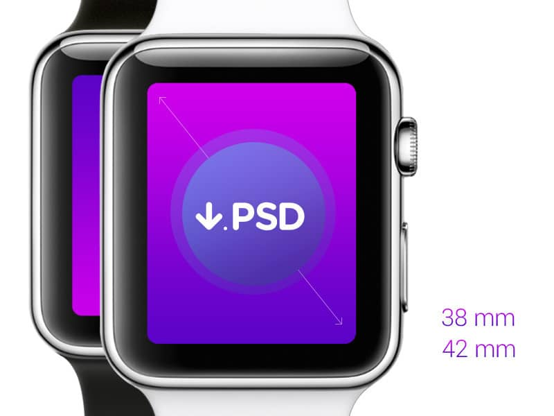 Free iWatch Template PSD