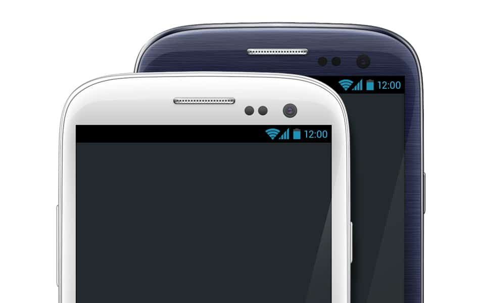 Galaxy S III White & Black PSD Template