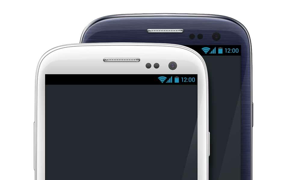 Galaxy S III White & Black PSD Template