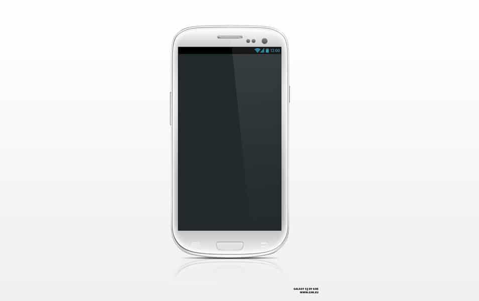 Galaxy S3 PSD Template