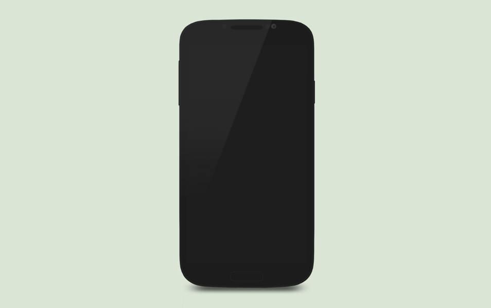 Galaxy S4 Flat psd