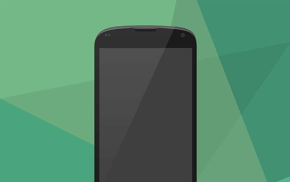 Google Nexus 4 Vector Mock-Up