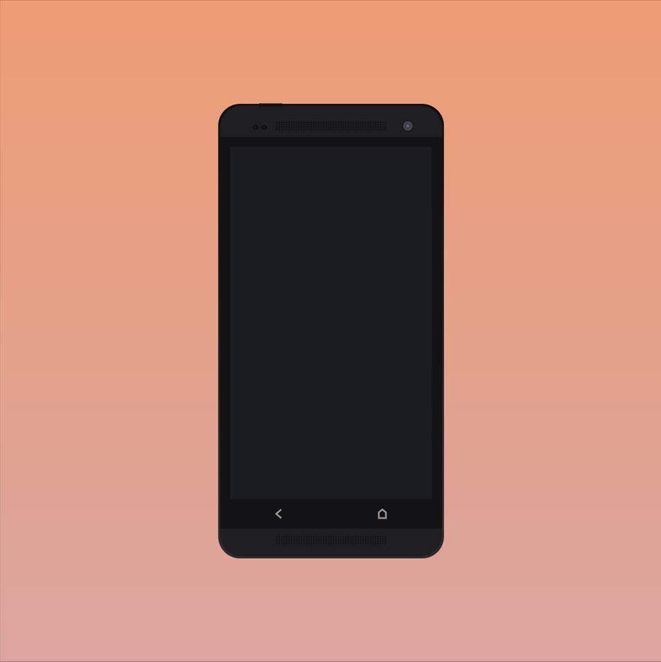 HTC One Free Mockup
