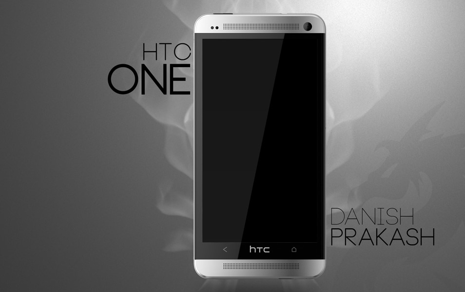 HTC One white PSD