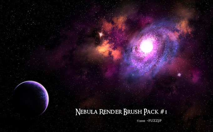 High Res Nebula Galaxies and Star Brushes