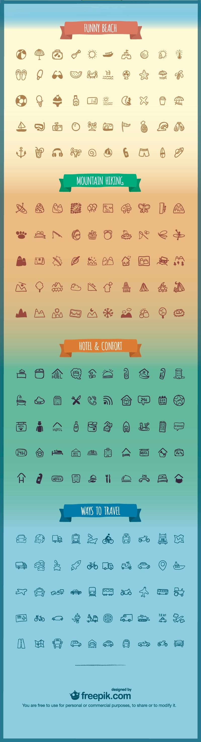 Holidays & Travel Icons Pack
