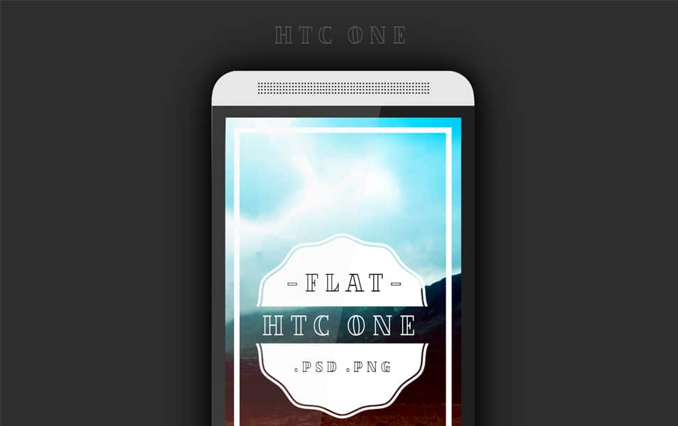 Htc One Flat PSD