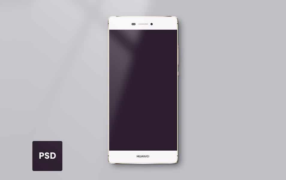 Huawei P8 Lite PSD Template