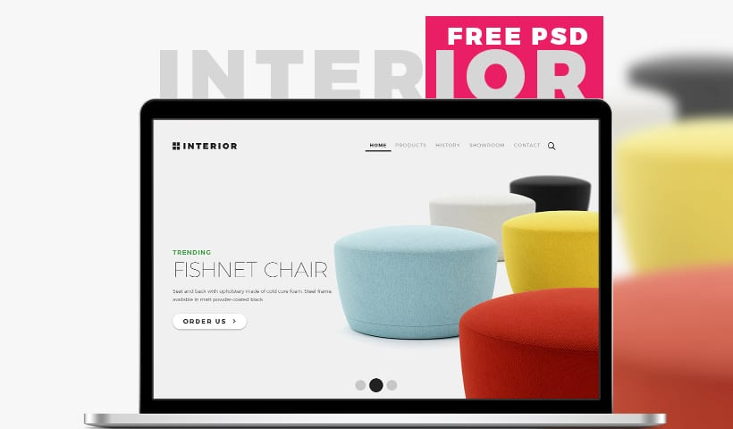 Interior Free Multi-purpose Furniture Store Template PSD
