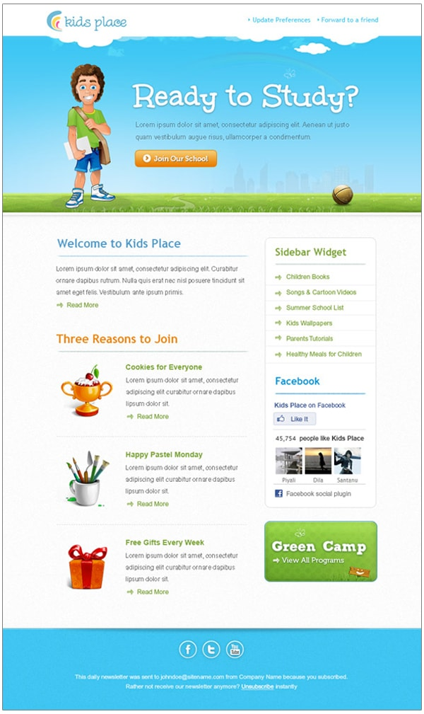 Kids-Newsletter-Template