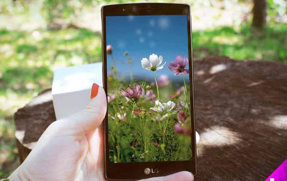LG G3 Smartphone Floral Mockup