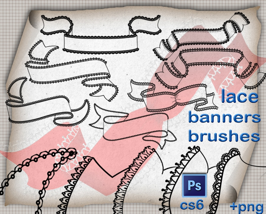 Lace Banners Brushes