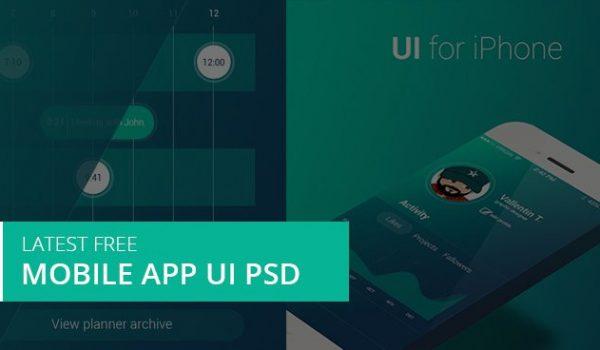 Latest Free Mobile App UI PSD Designs