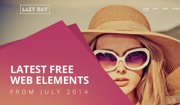 Latest Free Web Elements from July 2014