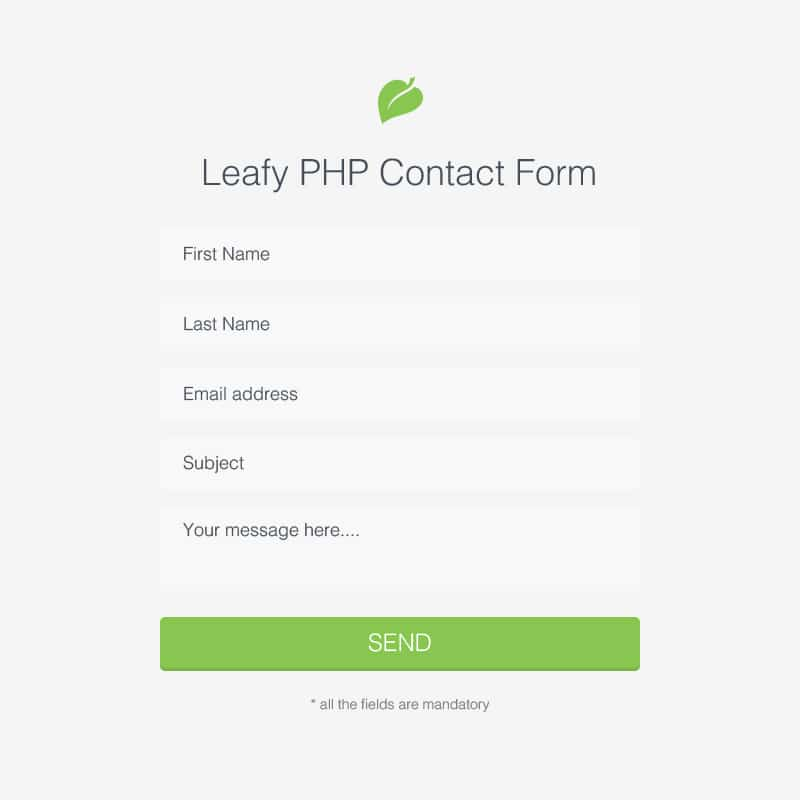 Leafy PHP Contact Form