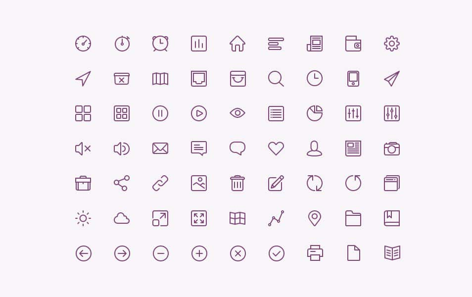 Line Iconset [PSD]