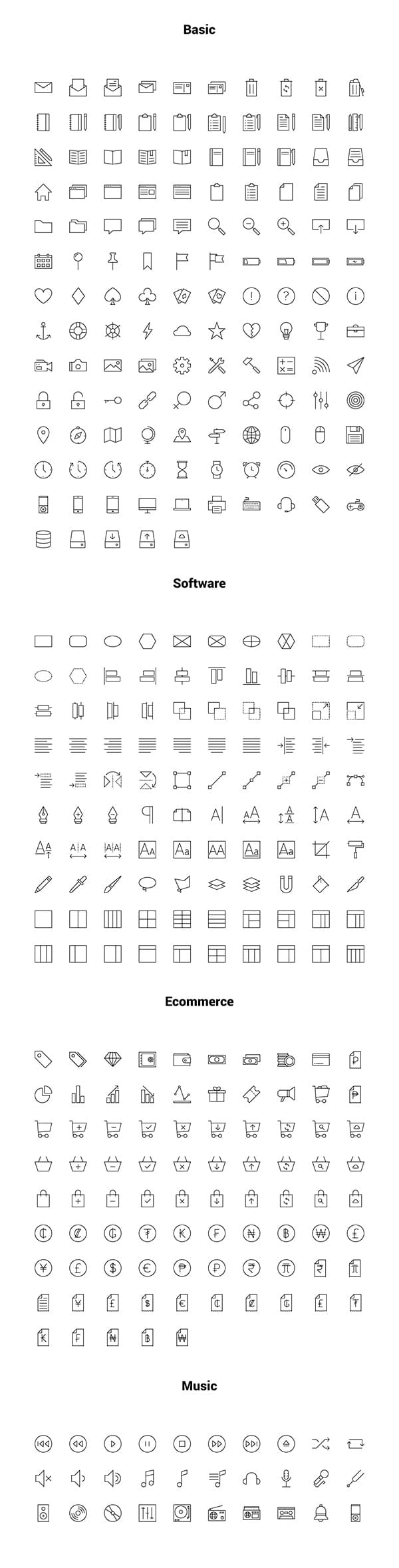 Linea Outline Iconset