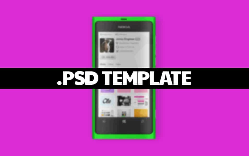 Lumia 800 mockup template