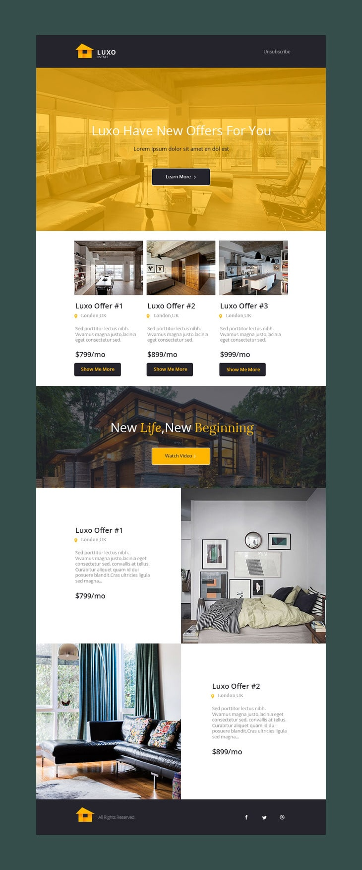 great mailchimp templates - free email newsletter templates psd css author