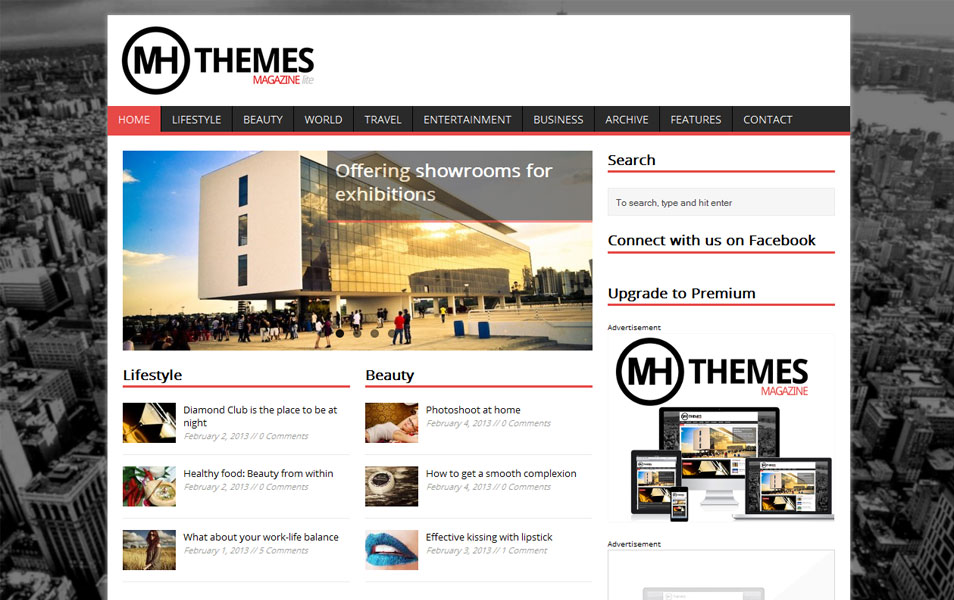 MH Magazine lite - Free Magazine WordPress Theme