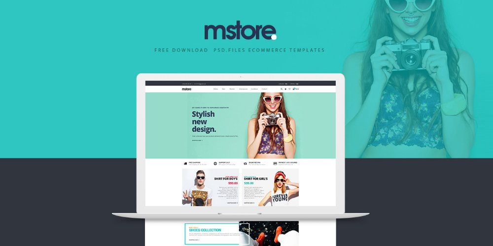 MSTORE Free Ecommerce Templates PSD