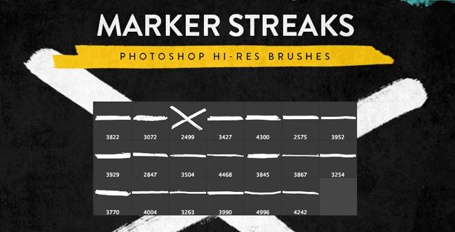 Marker Streak Brushes