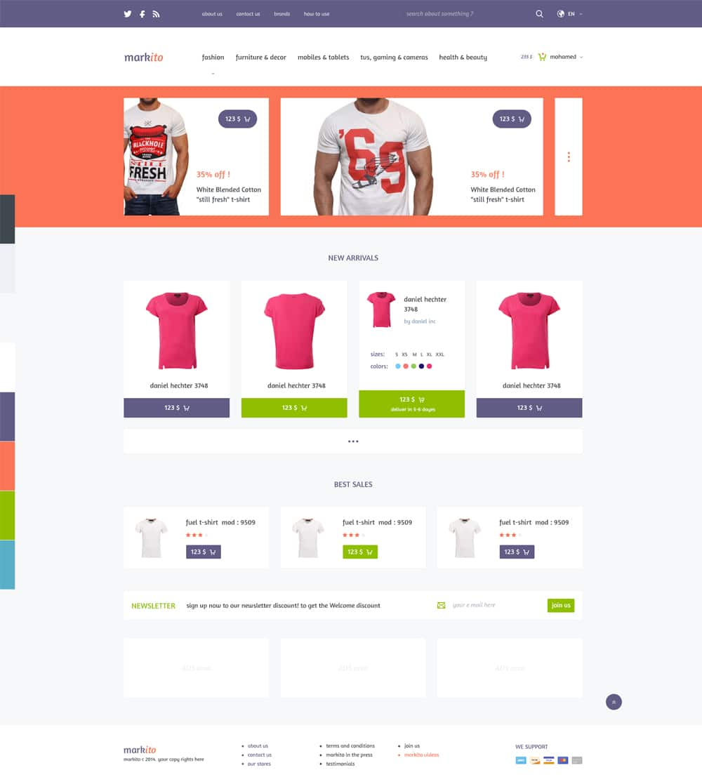 Markito - Free Shopping Template PSD