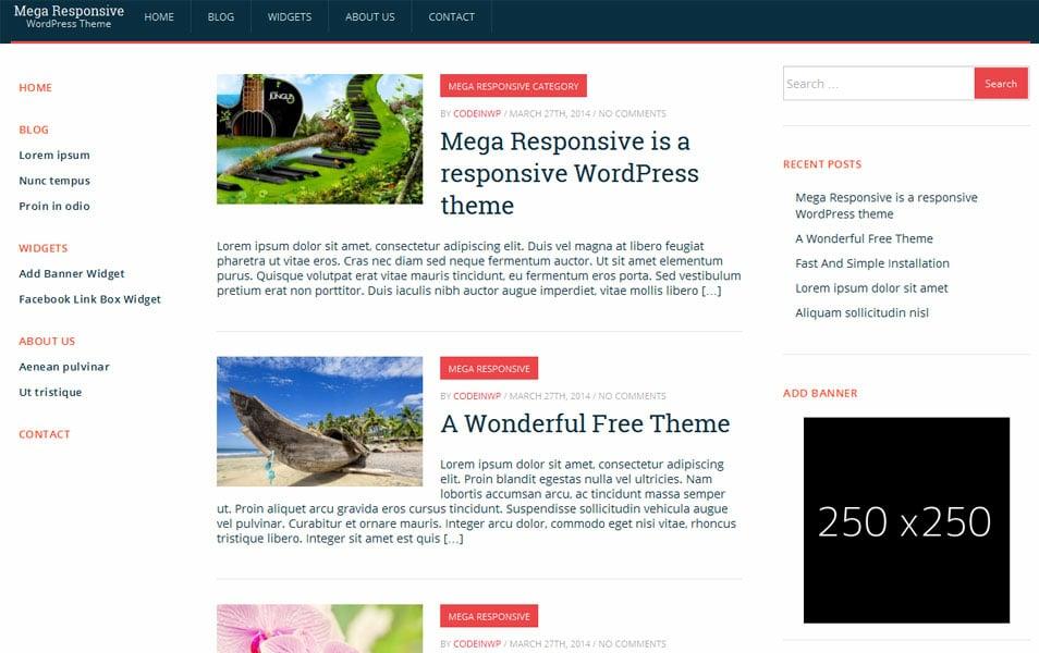 MegaResponsive Lite - Free Responsive Theme