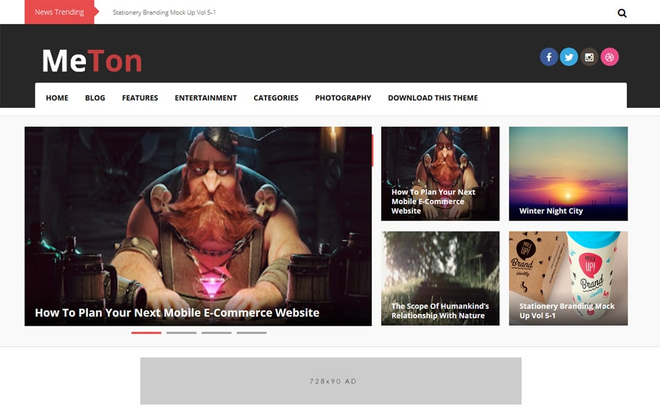 Meton Responsive Technology Blogger Template