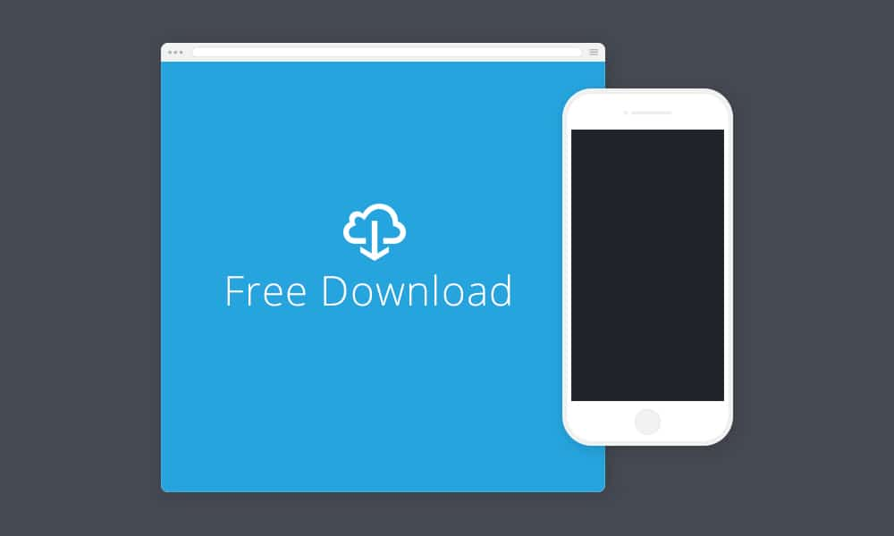 Minimal Browser and iPhone Mockup PSD
