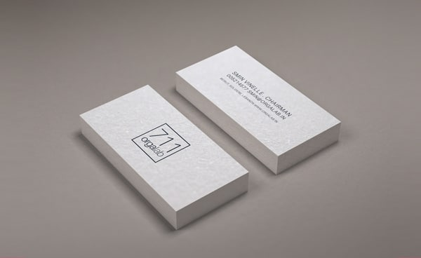 Minimal Business Card Mockup PSD
