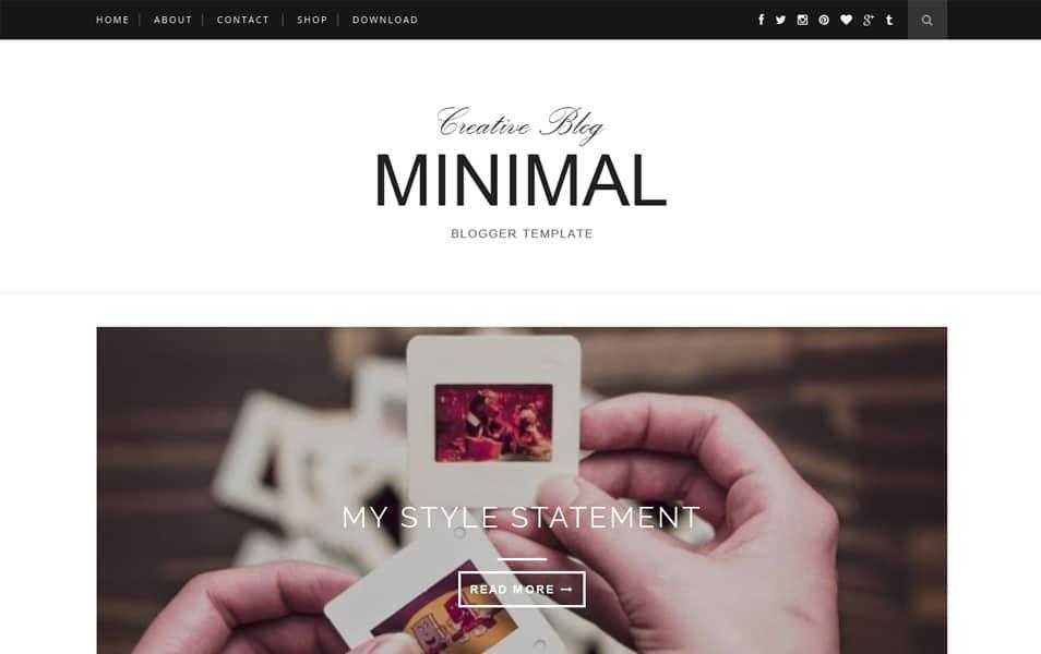 Minimal – Clean & Responsive Blogger Template