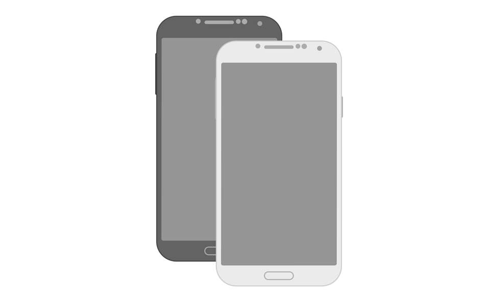 minimal flat galaxy s4 mockup - Mockups For Android