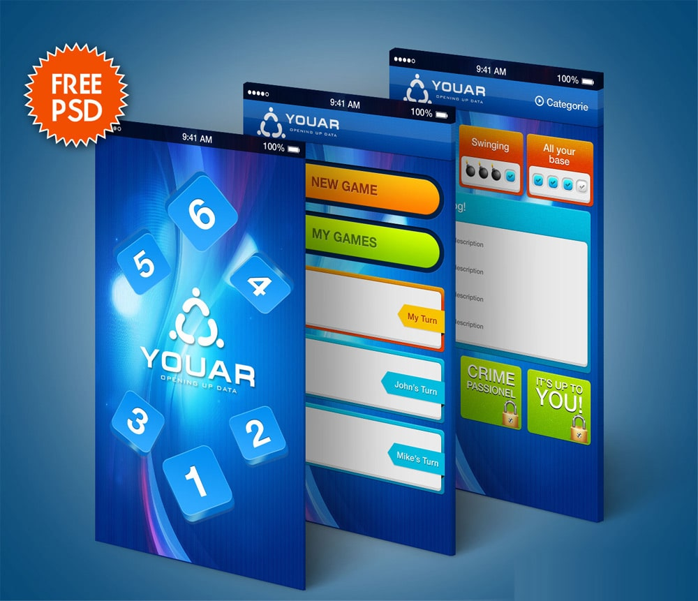 Mobile Game GUI Kit PSD