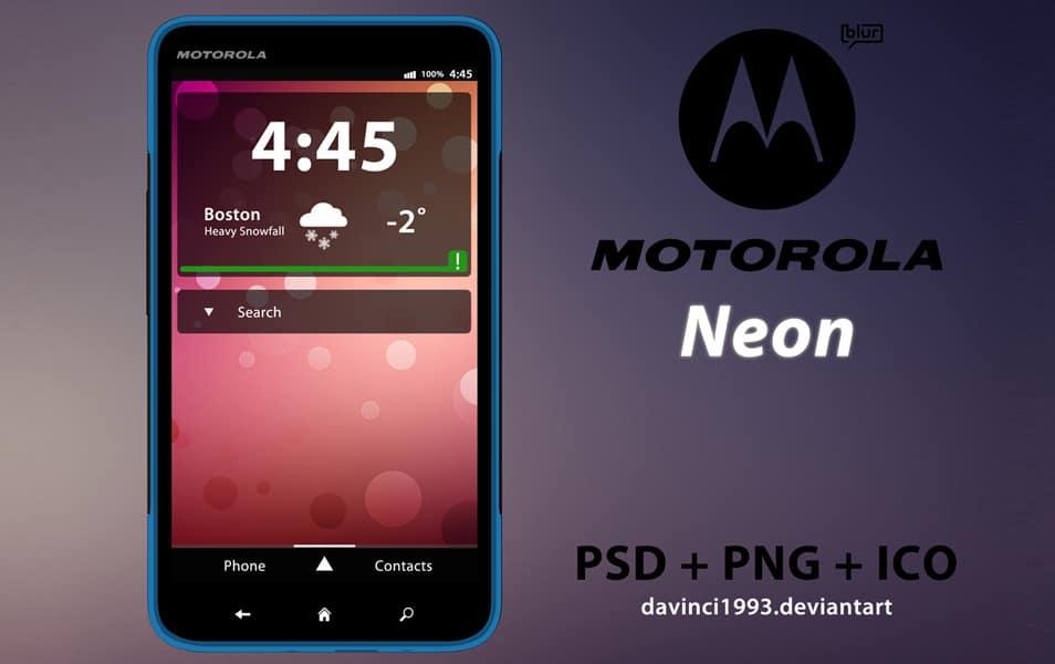 Motorola Neon PSD
